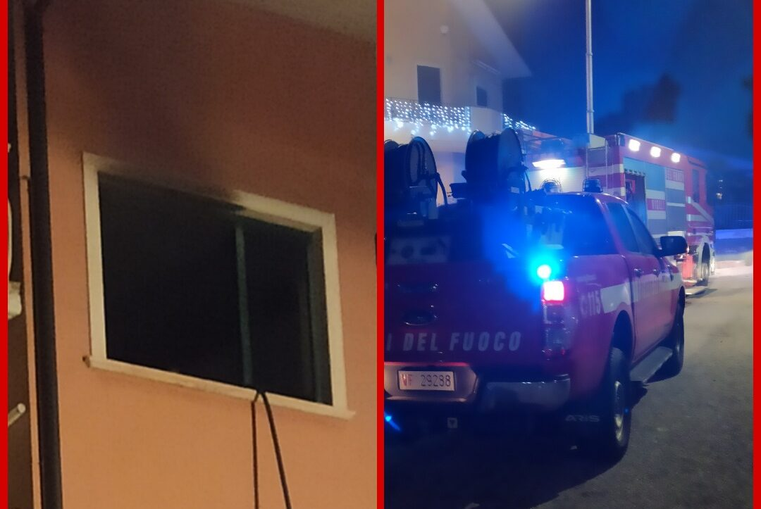 Appartamento a fuoco: ustionato un uomo