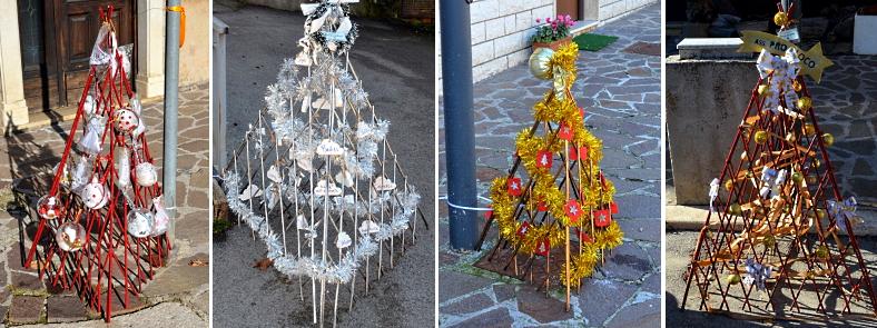 Tanti piccoli alberi di Natale per le strade di Cese per dare forza al concetto di comunità