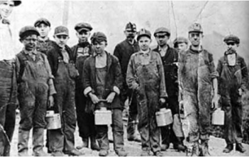 Bambini minatori (archivio WVLU)