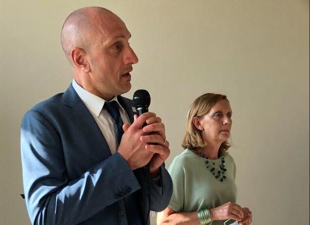 Sindaco di Celano Settimio Santilli e la presidente dell'ANFFAS di Avezzano Domenica Di Salvatore