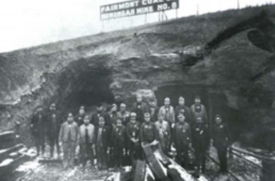 L'ingresso n.8 della Miniera (archivio WVLU)