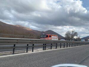 Incidente stradale lungo l'autostrada A25, all'altezza di Magliano dei Marsi - FOTO