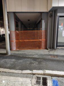 Avezzano, chiuso il porticato della struttura ex Standa ed Ovs