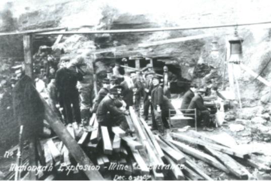 La miniera di Monongah (Archivio WVLU)