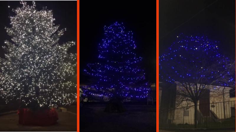 Accesi gli alberi di Natale a Rosciolo e Marano