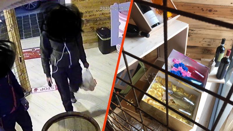 Malviventi a volto scoperto mettono a segno un furto in un' enoteca di Avezzano