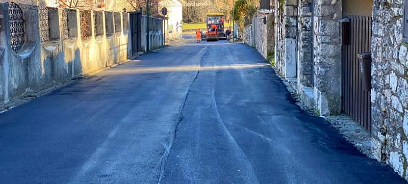 Conclusi i lavori di manutenzione straordinaria del manto stradale a Opi