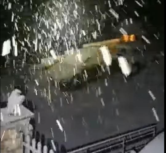 Tagliacozzo, spettacolare video della nevicata di ieri sera a Marsia