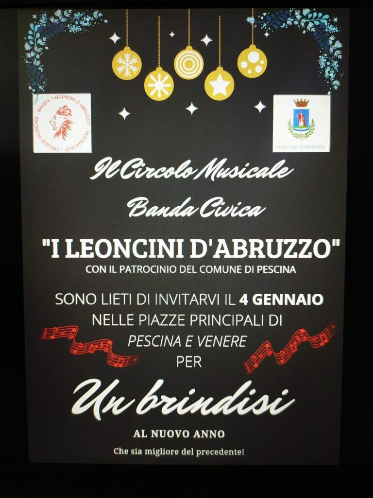 Un brindisi al nuovo anno con le melodie del Circolo Musicale Banda Civica I Leoncini d'Abruzzo