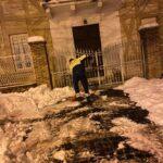 La Protezione Civile di Tagliacozzo al lavoro per rimuovere la neve in alcuni punti sensibili del Paese