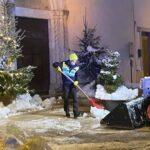 Neve, la N.O.V.P.C. di Tagliacozzo al lavoro per ripristinare viabilità
