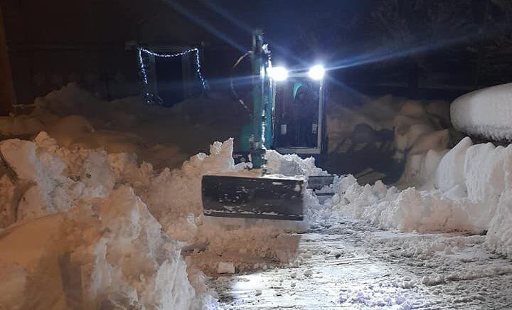 Emergenza neve, si continua a lavorare nel Comune di Cappadocia