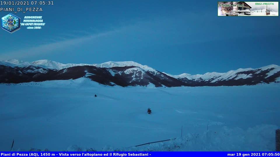 Freddo intenso, temperature minime da record registrate nella notte negli altopiani abruzzesi