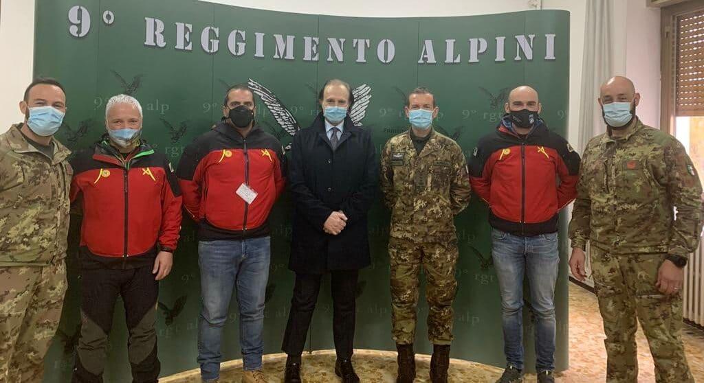 Il Soccorso Alpini sigla un accordo con il 9^ Reggimento Alpini