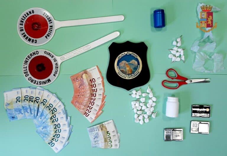 Rocambolesco arresto della Polizia per le vie cittadine di avezzano per spaccio di droga
