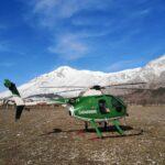 In azione con l'elicottero dei Carabinieri il sonar del Soccorso Alpino arrivato dalla Valle d'Aosta