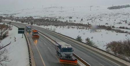 Regolazione del traffico dei mezzi pesanti a causa della neve sulle autostrade A24 e A25