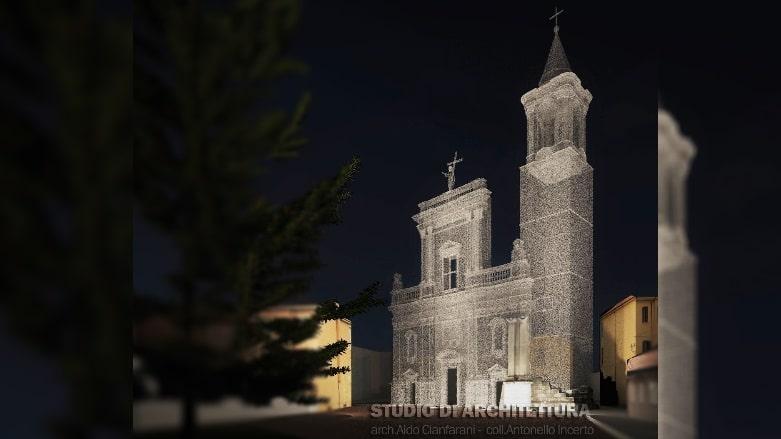 proposta di restituzione volumetrico/architettonica dell'antica facciata di San Bartolomeo,