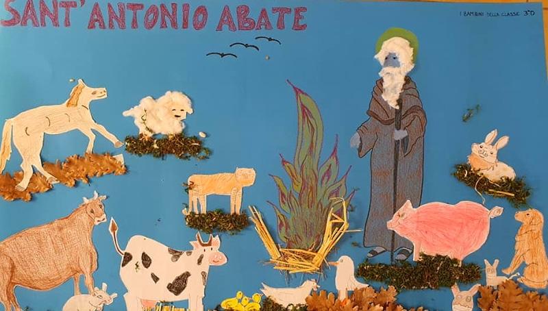 I bambini di Cerchio festeggiano S. Antonio con bellissimi disegni