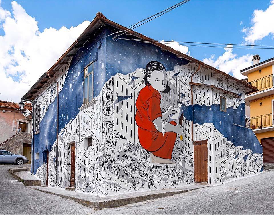 Aielli e la Street Art nei percorsi del patrimonio culturale abruzzese selezionati dalla Fondazione Genti d'Abruzzo