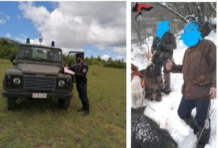 Carabinieri Forestali di Avezzano multano due cacciatori per esercizio di attività venatoria su terreno coperto da neve