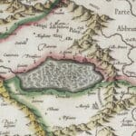 Il Lago Fucino e la Marsica in un'antica cartina del 1589