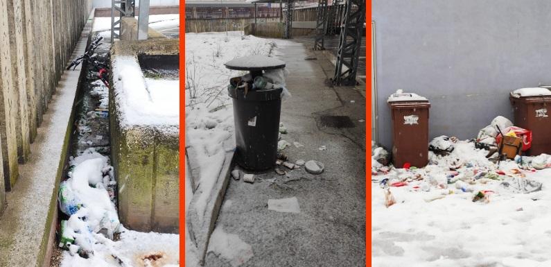 Avezzano, cumuli di immondizia e degrado nei pressi del sottopassaggio della stazione