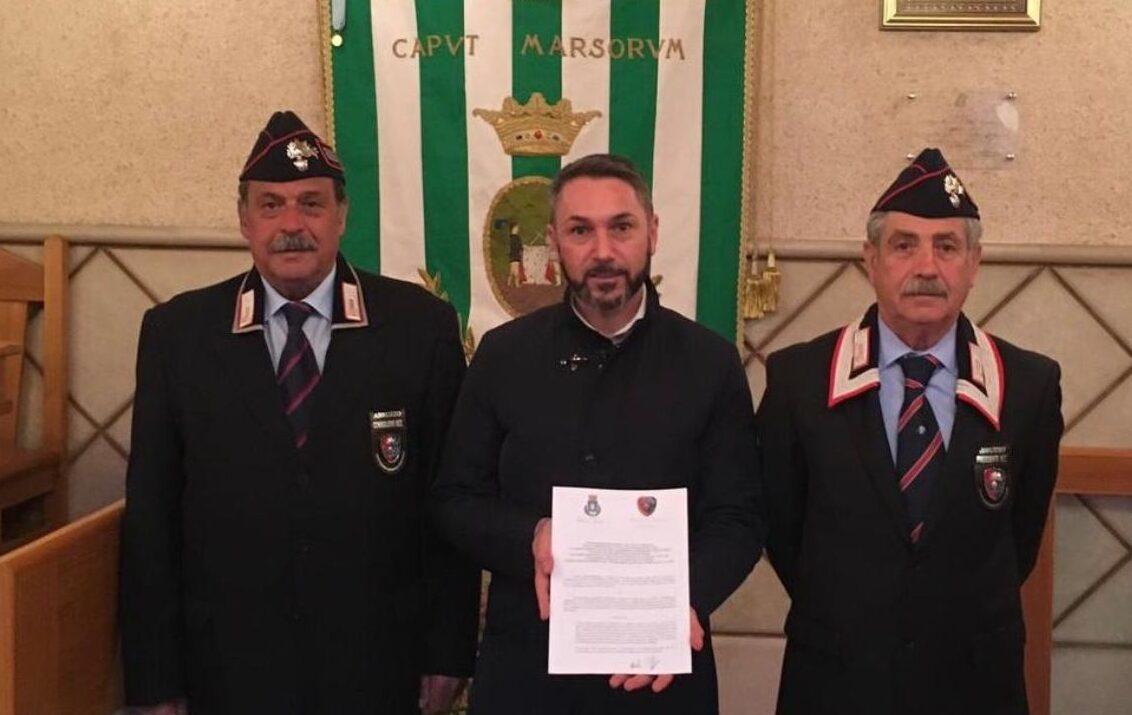Rinnovata la convenzione per i servizi di pubblica utilità tra il comune di Tagliacozzo e l'Associazione dei Carabinieri