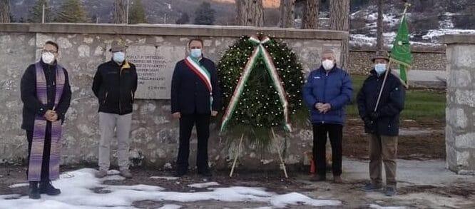 106° anniversario del terremoto, deposta una corona presso il vecchio cimitero di Ortucchio