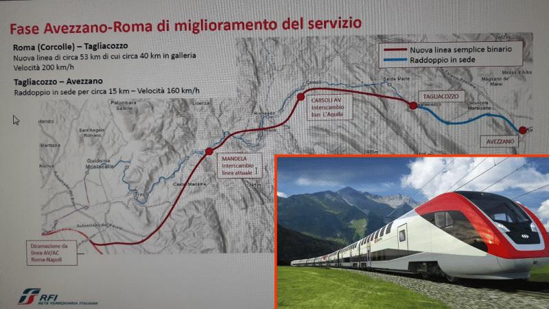 Raddoppio ferrovia Roma – Pescara, schermaglie politiche fra L'Aquila e Avezzano. Il punto tecnico sul piano