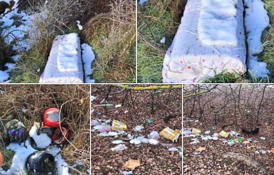 Rifiuti abbandonati nei pressi del cimitero di Massa d'Albe, indignazione sui social