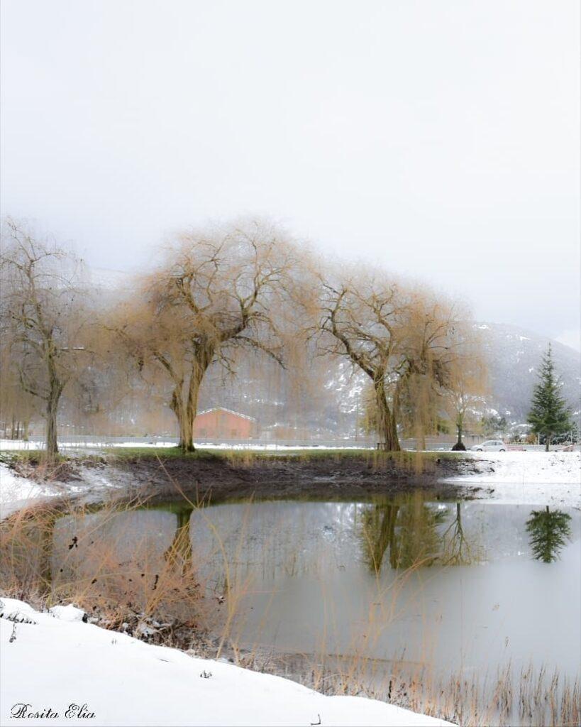 La neve attorno al Fucino nelle bellissime foto di Rosita
