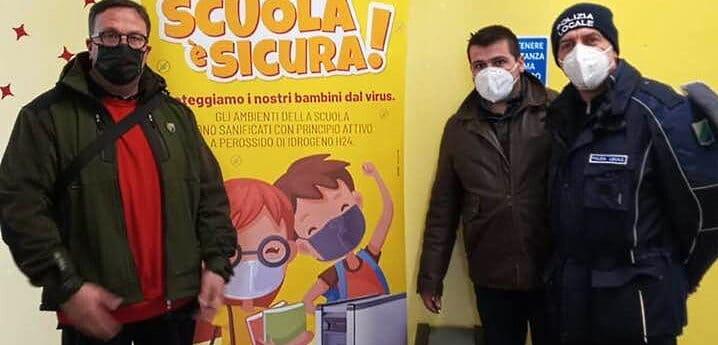 Installati sanificatori ionizzanti nella scuola materna e primaria di Cerchio