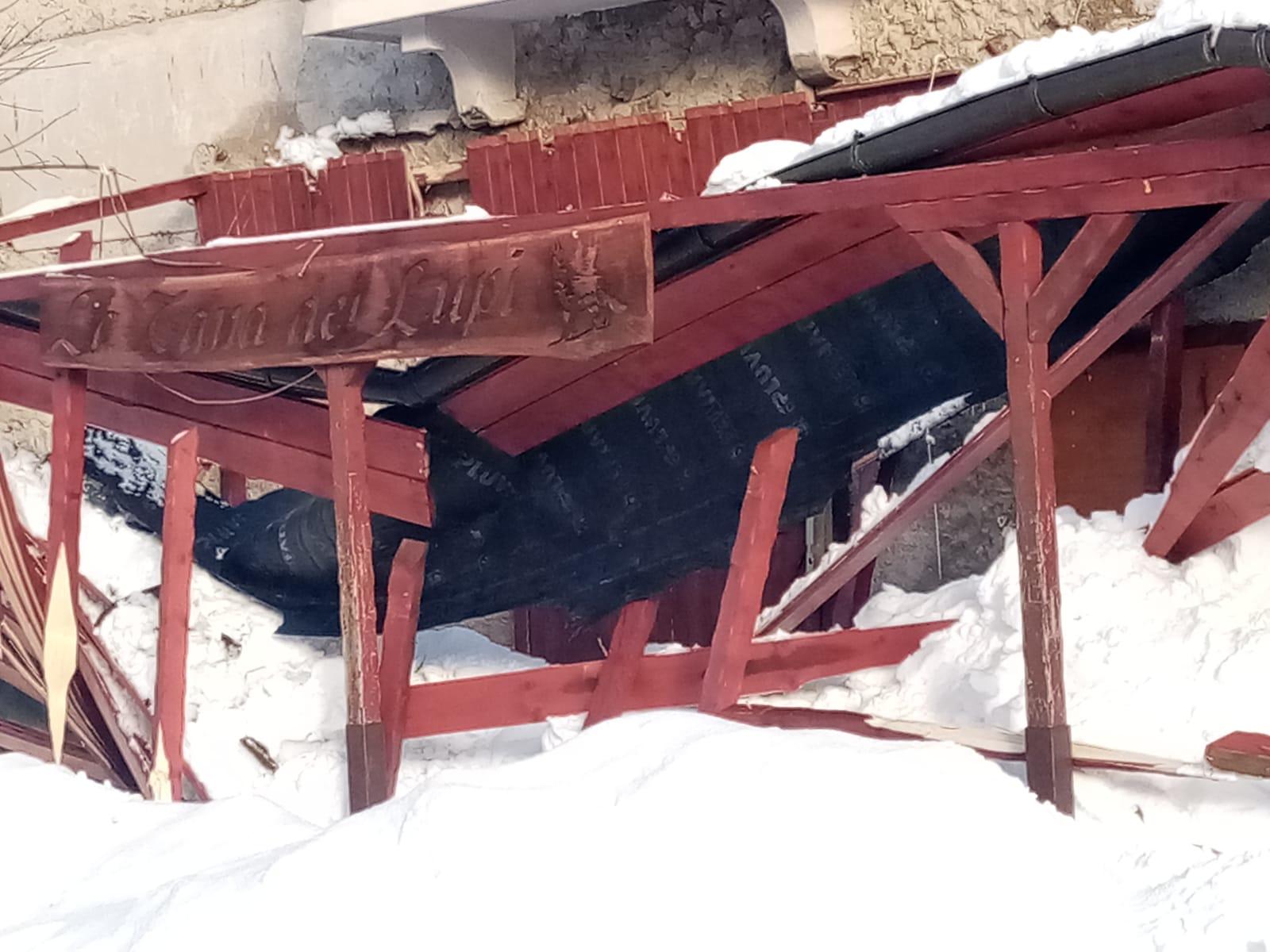 """Crolla la tettoia del Bar Lilli a Cappadocia. """"Diretto"""" del sindaco Lorenzin: """"realtà emblema di un'opposizione instabile e immatura"""""""