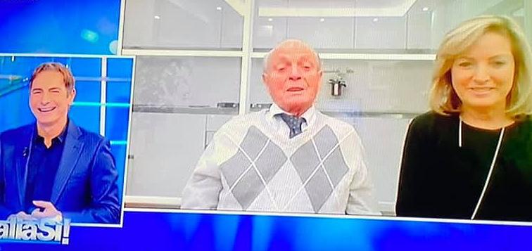 """Il marsicano Umberto Scipioni, di 102 anni, ospite di """"Italia sì"""" su Rai 1"""