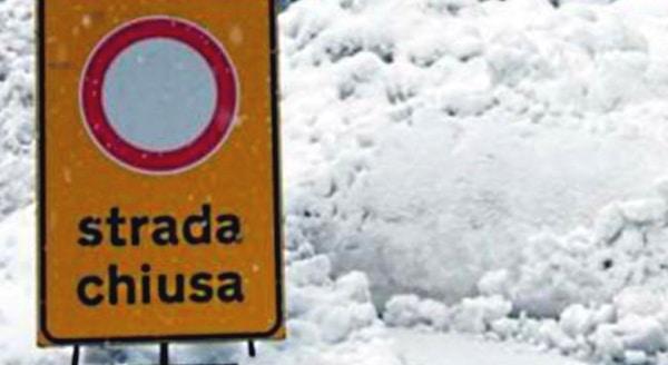 Valanga a Civitella Roveto, il sindaco dispone il divieto della circolazione in zona Polverelli