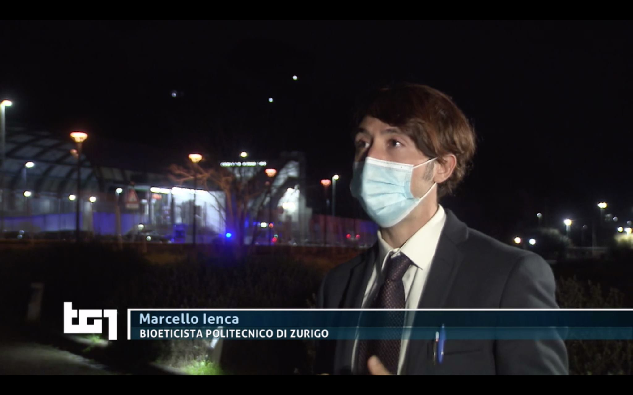 Il marsicano Marcello Ienca in onda su TG1 per un'intervista a tema di neurotecnologie e neurodiritti
