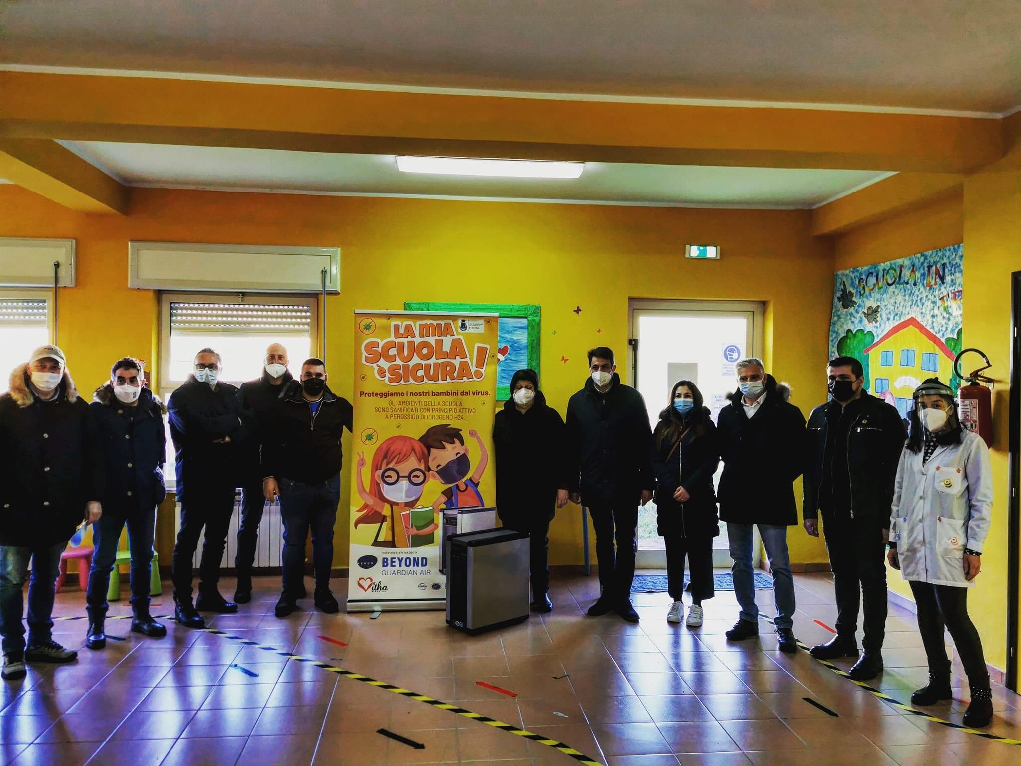 Sanificazione dell'aria nei locali scolastici dell'istituto Fontamara di Pescina