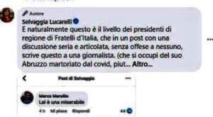 """Pezzopane (PD): """"Marsilio chieda subito scusa a Lucarelli e Giorgia Meloni intervenga a difesa di un'altra donna gratuitamente offesa."""""""