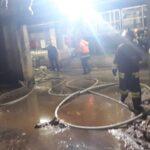 Incendio all'interno di un reparto della cartiera Burgo di Avezzano