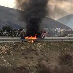 Camion in fiamme sulla superstrada, disagi al traffico