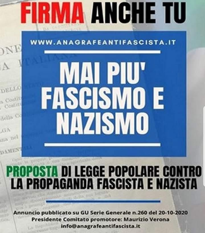 Il comune di San Vincenzo Valle Roveto aderisce alla firma del progetto di legge contro i messaggi fascisti e nazisti