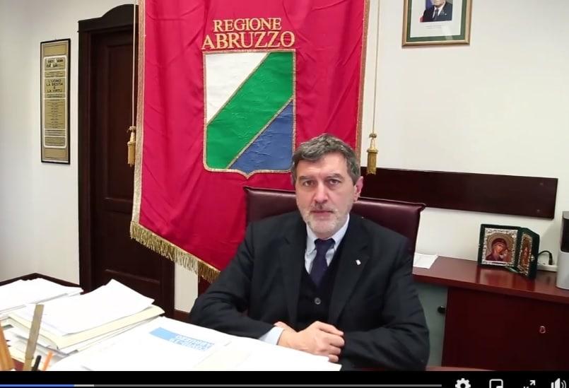 Covid-19 in Abruzzo, il punto della situazione del Presidente Marsilio
