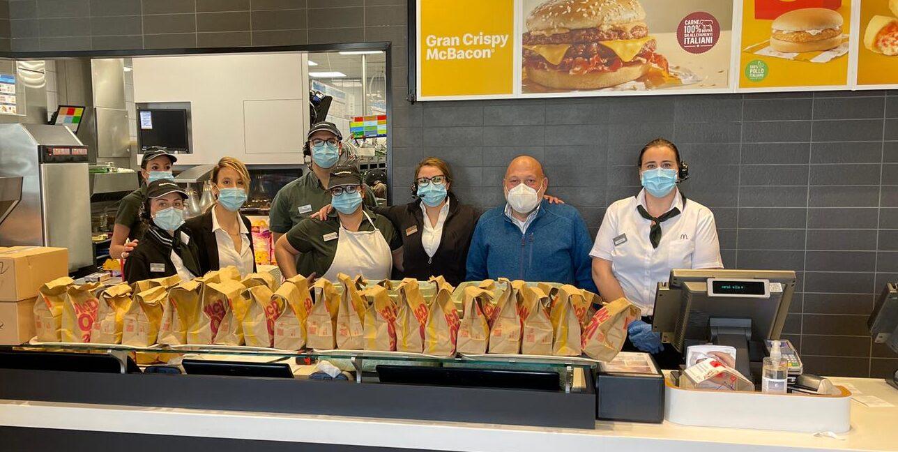 """Pasti distribuiti alla Caritas Diocesana di Avezzano, McDonald's partecipa al progetto """"Sempre aperti a donare"""""""