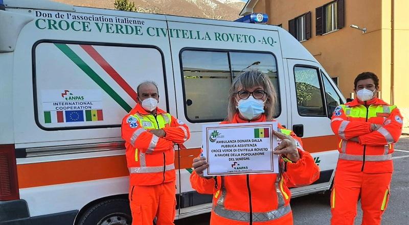 Nuova vita per l'ambulanza della Croce Verde di Civitella Roveto, è destinata a Dakar, in Senegal