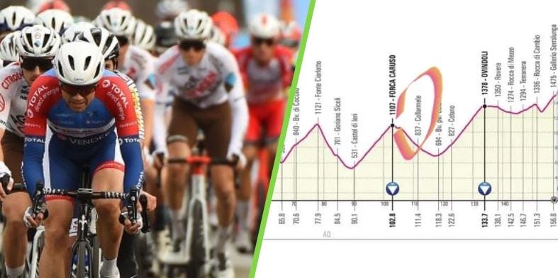 Domenica 16 maggio il Giro d'Italia 2021 passerà per le strade della Marsica