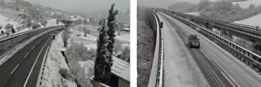 Mezzi antineve in azione sulle autostrade A24 e A25