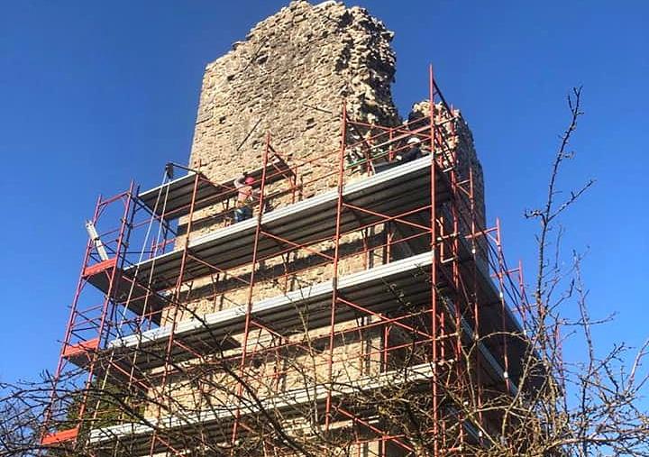 Terminati i lavori di messa in sicurezza della torre centrale del Forte de' Leoni a Carsoli