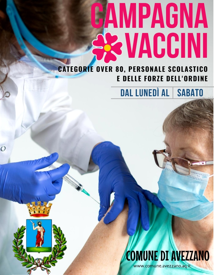 Il Comune di Cerchio dona 200 mascherine all'ambulatorio vaccinale di Pescina