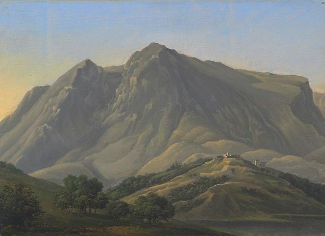 Il Monte Velino dipinto da Lancelot-Théodore Turpin de Crissé nel 1807/1808